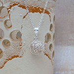 Silver Birds Nest Necklace 2