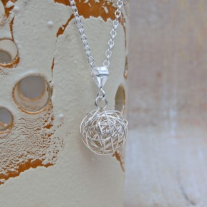 Sterling Silver Nest Necklace