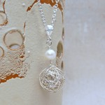 Silver Birds Nest and Pearl Necklace 4