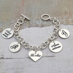 Silver Personalised Latin Love Bracelet