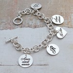 Silver Personalised Latin Love Bracelet 3