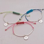 Girls Personalised Silver Friendship Bracelet Trio Main Image