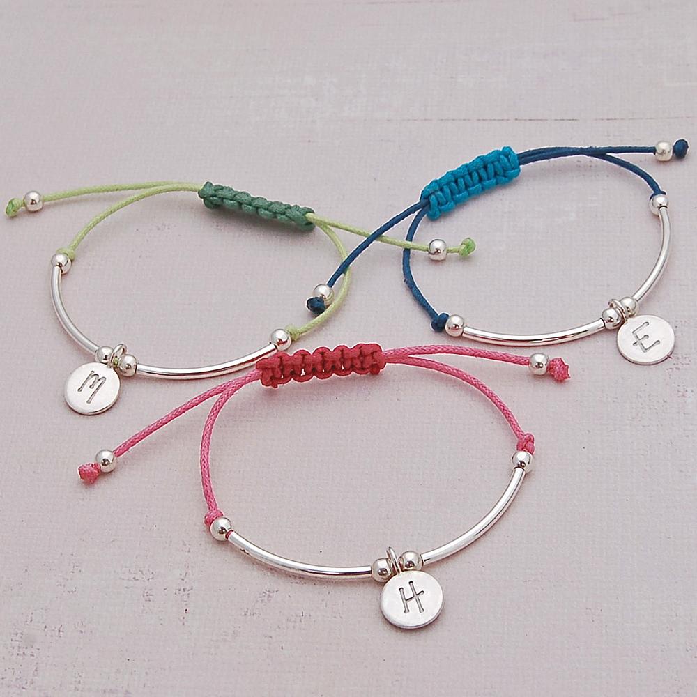 b703da5539430 Girls Silver Personalised Friendship Bracelet   IndiviJewels
