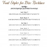 IndiviJewels Font Styles for Disc Necklace