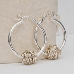 Sterling Silver Entwined Hoop Earrings
