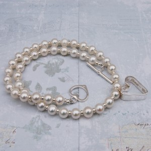 Sterling silver personalised secret heart and freshwater pearl necklace 6 copy
