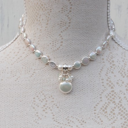 Freshwater Coin Pearl And Aquamarine Gemstone Wedding Necklace 10 psd copy