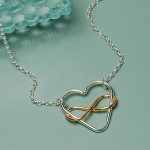 Infinite Love Necklace in Sterling Silver with Rose Gold