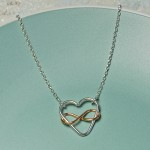 Infinite Love Necklace in Sterling Silver with Rose Gold 3