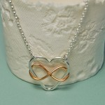 Infinite Love Necklace in Sterling Silver with Rose Gold 4