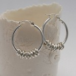 Silver Hoola Hoop Earrings 2