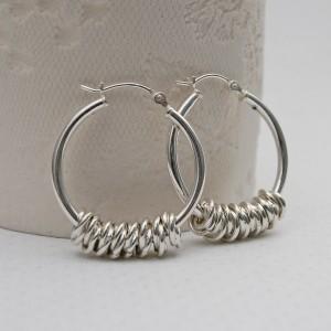 Sterling Silver Hoola Hoop Earrings 2