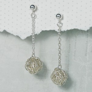 Sterling Silver Nest Dangle Earrings