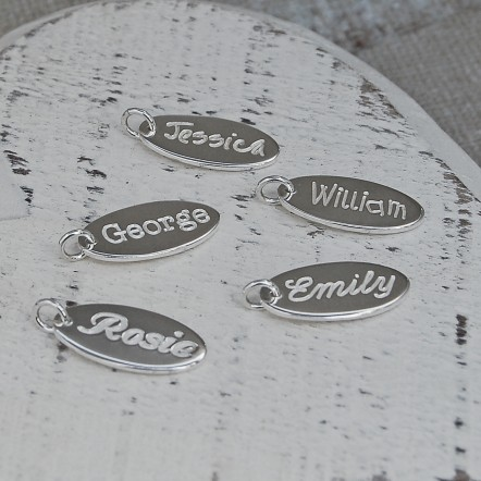 Personalised Silver Name Charms