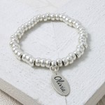 Handmade Personalised Etched Name Slinky Bracelet 1