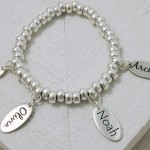Handmade Personalised Etched Name Slinky Bracelet 4