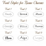 IndiviJewels Font Styles for Name Charms