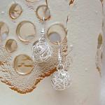 Silver Birds Nest Earrings 2