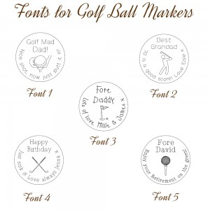 Fonts for Golf Ball Markers