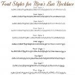 IndiviJewels Fonts for Mens Bar Necklace