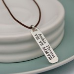 Mens Personalised Silver Bar Necklace 5