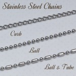 Stainless Steel Chains for Men's Bar Necklace