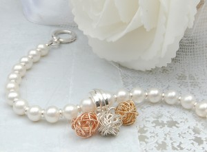 Pearl and Three Bird's Nest Bracelet 6 copy