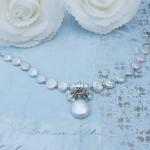 Coin Pearl & Aquamarine Charm Bracelet 2 copy