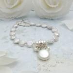 Coin Pearl & Aquamarine Charm Bracelet 5 copy