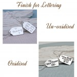 IndiviJewels Finish for Lettering Gift Tag Necklace