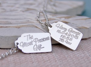Personalised Vintage Gift Tag Necklace