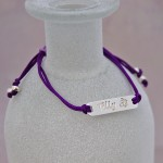 Girls Personalised Sterling Silver Bar Bracelet Butterfly 2