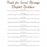 IndiviJewels fonts for Secret Message Droplet Necklace