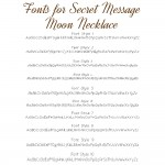 IndiviJewels fonts for Secret Message Moon Necklace