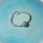 Sterling Silver Bird's Nest And Pearl Bracelet 5psd copy