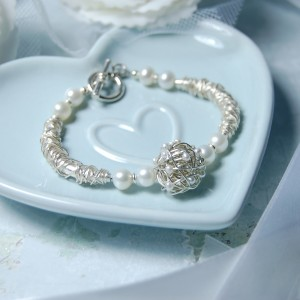 Sterling Silver Bird's Nest And Pearl Bracelet 7 copy