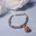 Sterling Silver & Rose Gold Bird's Nest Charm Bracelet 5 psd copy