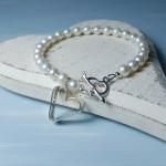 Sterling Silver Secret Heart And Pearl Bracelet 6