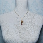 Gold Fill Bird's Nest Entwined Pearl & Gemstone Necklace 3 copy