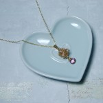 Gold Fill Bird's Nest Entwined Pearl & Gemstone Necklace 8 copy