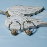 Gold Fill Entwined Pearl Hoop Earrings 2 copy