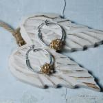 Gold Fill Entwined Pearl Hoop Earrings 3 copy