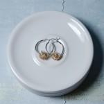 Gold Fill Entwined Pearl Hoop Earrings 5 copy