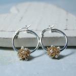 Gold Fill Entwined Pearl Hoop Earrings 6 copy