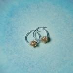 Gold Fill Entwined Pearl Hoop Earrings1 copy