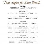 IndiviJewels Font Styles for Love Hearts Bracelet