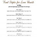 IndiviJewels Font Styles for Love Heart Bracelet