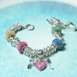 Personalised sterling silver & Swarovski bead bracelet1 copy