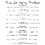 IndiviJewels Font Styles for Arrow Necklace
