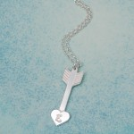 IndiviJewels Personalised Silver Arrow Heart Necklace 5